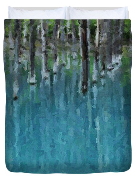 Liquid Forest Duvet Cover
