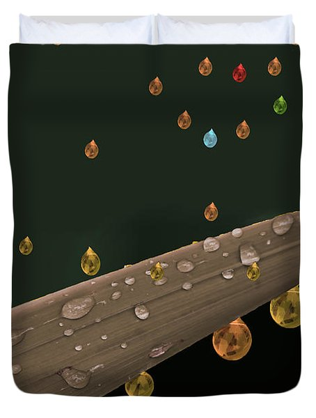 Liquid Gold Duvet Cover by Angela A Stanton