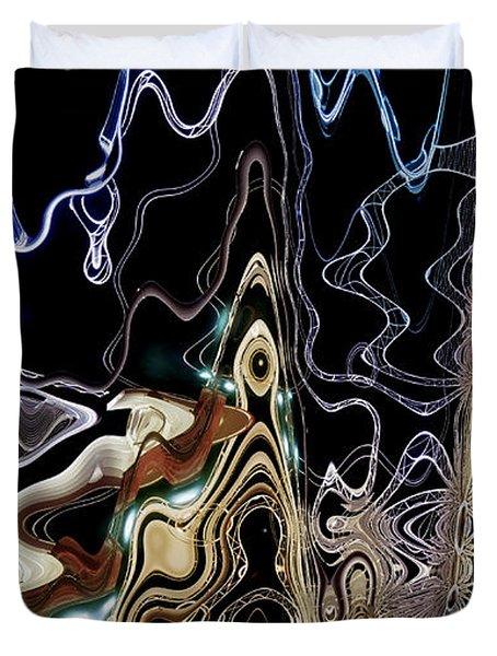 Duvet Cover featuring the photograph Liquid Metal II by Pennie  McCracken