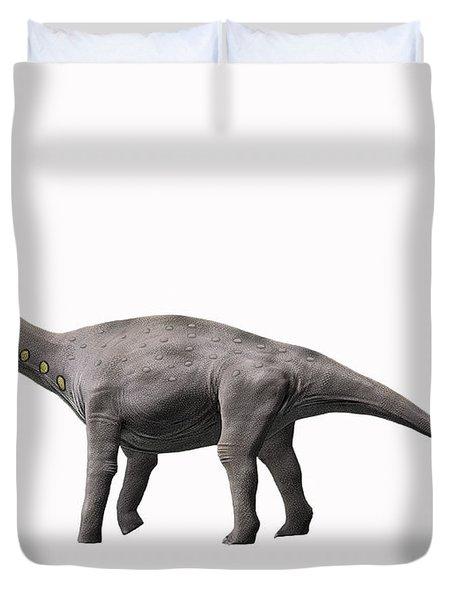 Lirainosaurus Astibae, Late Cretaceous Duvet Cover by Nobumichi Tamura