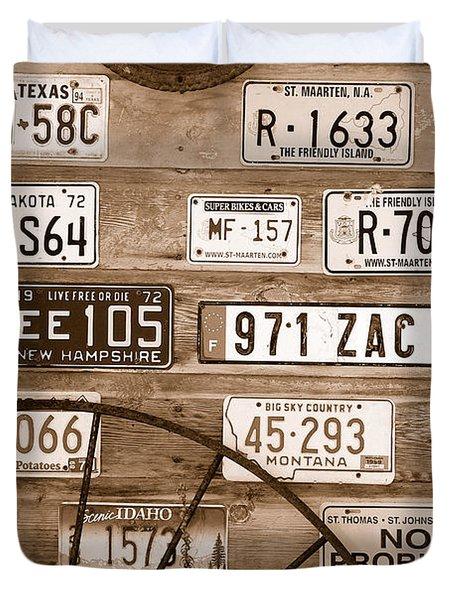 Liscensed Shed Wall Duvet Cover