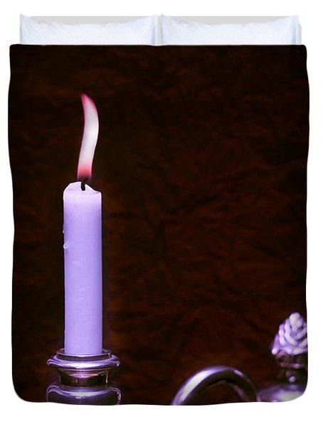 Lit Candle Duvet Cover by Amanda Elwell