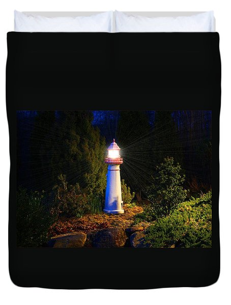 Lit-up Lighthouse Duvet Cover