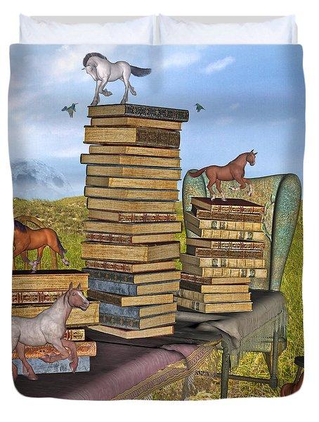 Literary Levels Duvet Cover