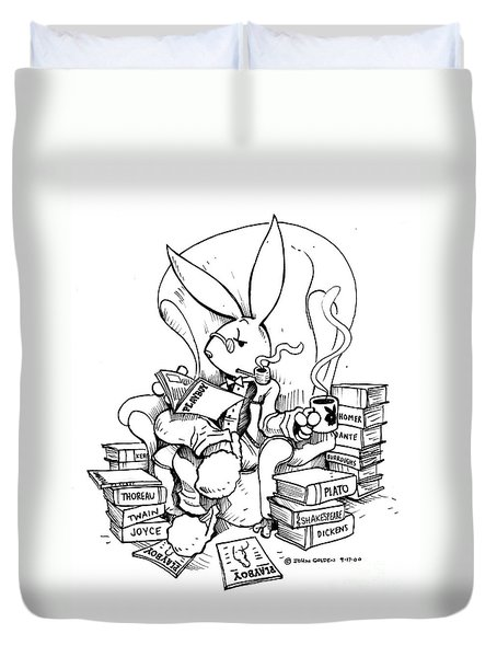 Literary Playboy Duvet Cover