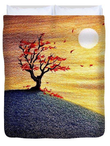 Little Autumn Tree Duvet Cover by Danielle R T Haney