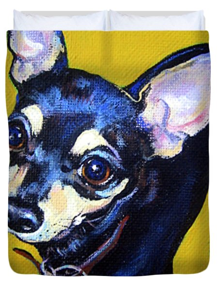 Little Bitty Chihuahua Duvet Cover