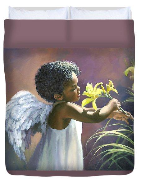 Little Black Angel Duvet Cover