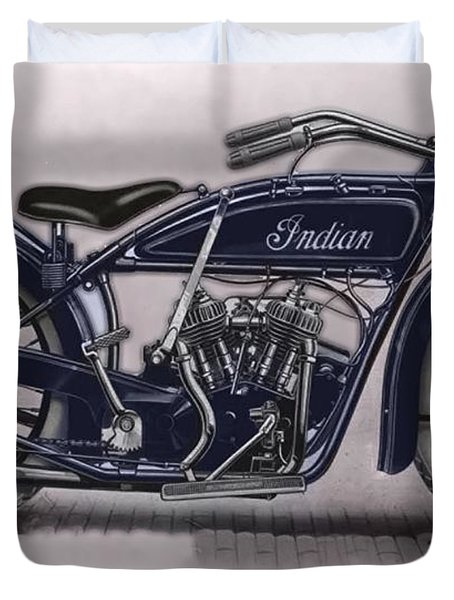 Little Blue Indian 2 Duvet Cover