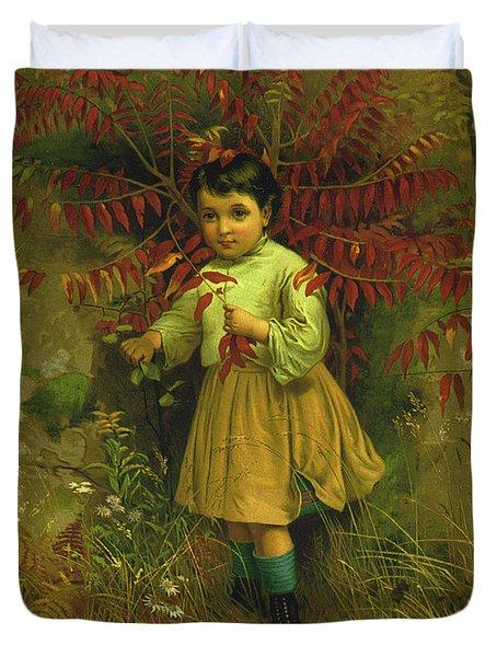 Little Bo Peep 1867 Duvet Cover by JG Brown