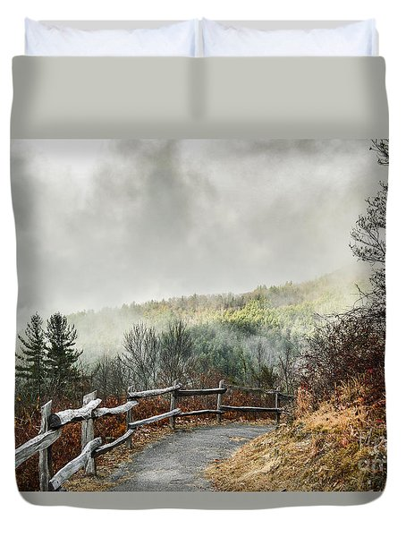 Duvet Cover featuring the photograph Little Cataloochee Overlook In The Great Smoky Mountains by Debbie Green