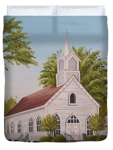Little Chapel Duvet Cover