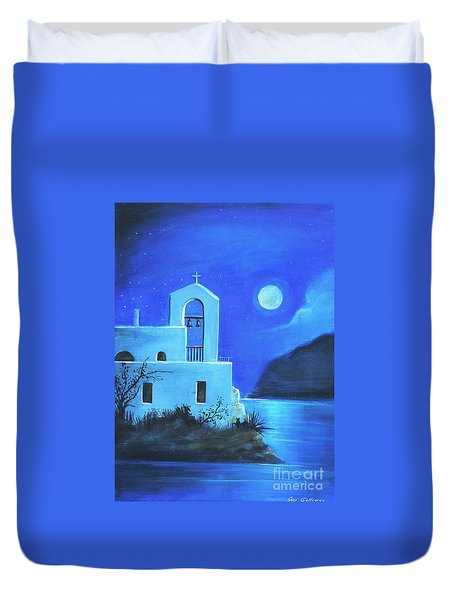 Little Church By The Sea Duvet Cover