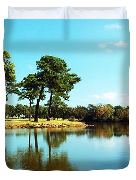 Duvet Cover featuring the photograph Little Creek by Angela DeFrias