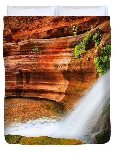 Little Deer Creek Fall Duvet Cover