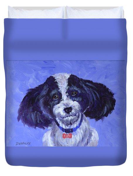 Little Dog Blue Duvet Cover