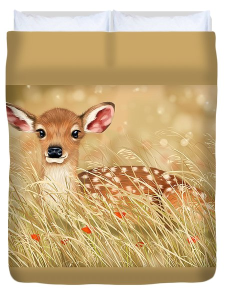 Little Fawn Duvet Cover by Veronica Minozzi