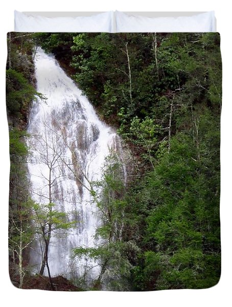 Little Laurel Branch Falls Duvet Cover