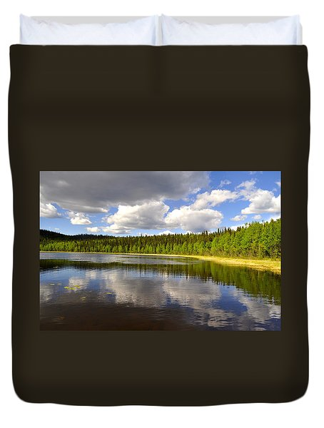 Duvet Cover featuring the photograph Little Lost Lake by Cathy Mahnke