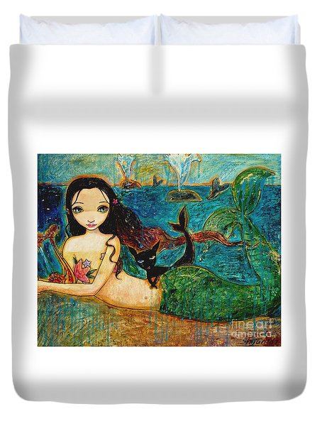 Little Mermaid Duvet Cover by Shijun Munns