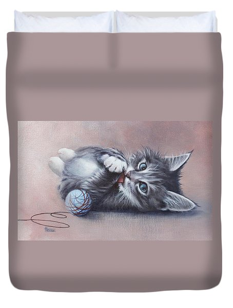 Little Mischief Duvet Cover by Cynthia House