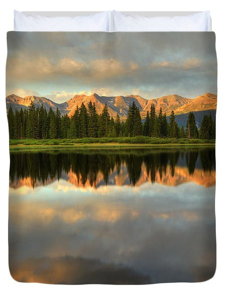 Little Molas Lake At Sunset Duvet Cover by Alan Vance Ley