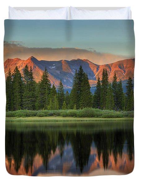 Little Molas Lake Sunset 2 Duvet Cover by Alan Vance Ley