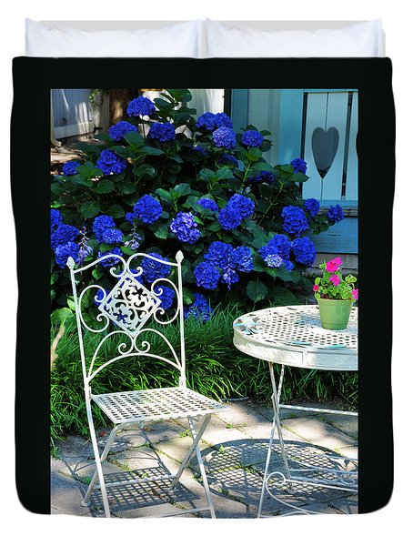 Little Patio Chair Duvet Cover