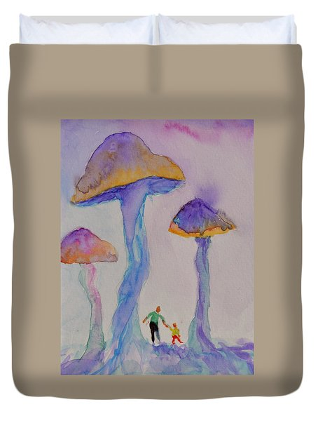 Little People Duvet Cover by Beverley Harper Tinsley