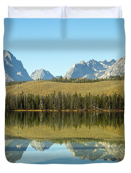 Little Redfish Lake Duvet Cover