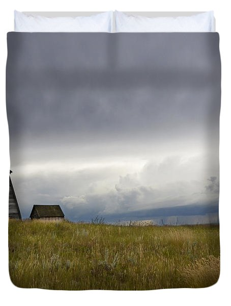Little Remains Duvet Cover by Bob Christopher