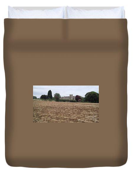 Little Rissington Church 2 Duvet Cover by John Williams