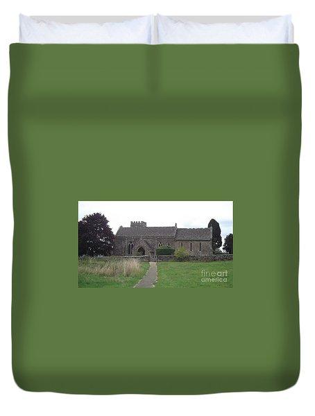 Little Rissington Church Duvet Cover by John Williams