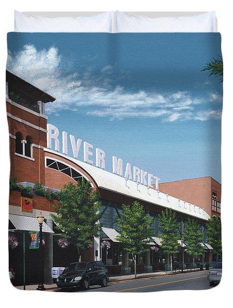 Little Rock River Market Duvet Cover
