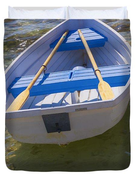 Little Rowboat Duvet Cover by Verena Matthew