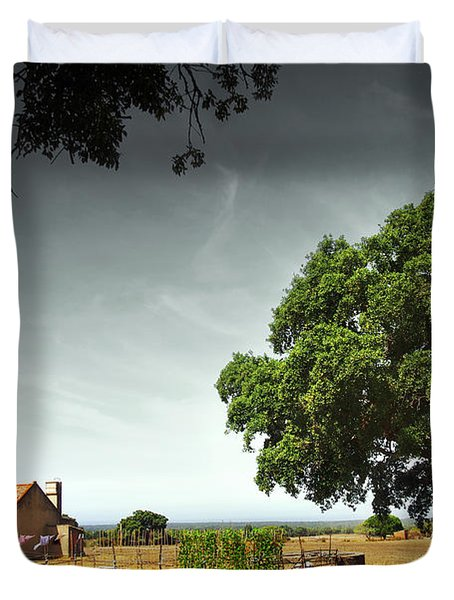 Little Rural House Duvet Cover by Carlos Caetano