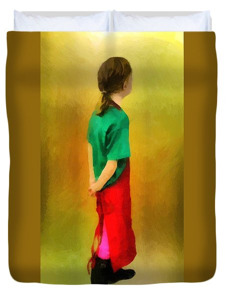 Little Shopgirl Duvet Cover by RC deWinter