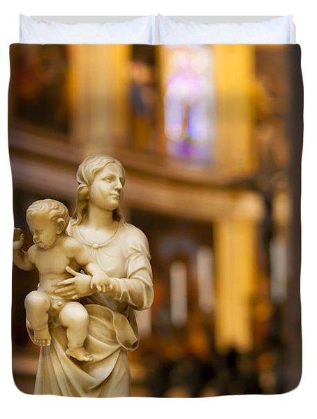 Little Statue Duvet Cover by Brian Jannsen