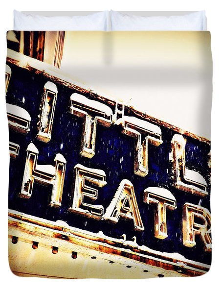 Little Theatre Retro Duvet Cover by James Aiken