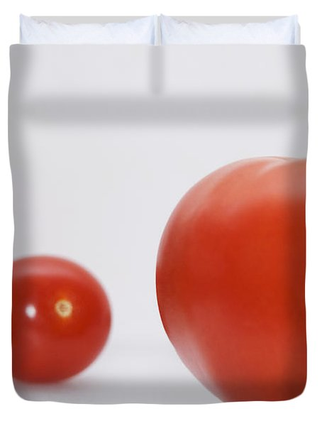 Little Tomatoes And One Big Tomato Duvet Cover by Marlene Ford