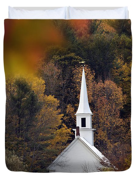Little White Church - D007297 Duvet Cover by Daniel Dempster