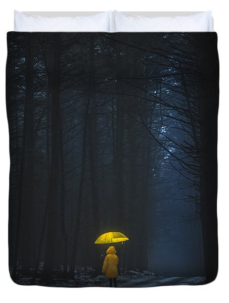 Little Yellow Riding Hood Duvet Cover