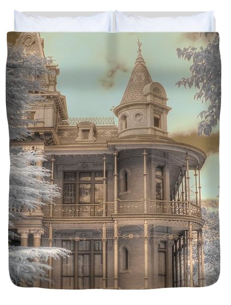 Littlefield Mansion Duvet Cover by Jane Linders