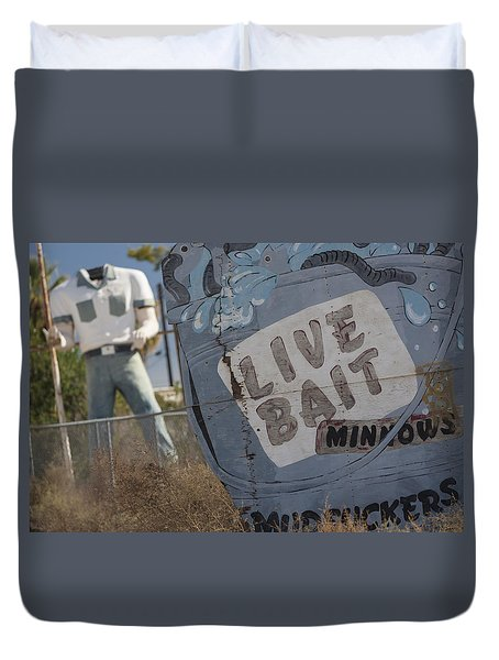 Live Bait And The Man Duvet Cover