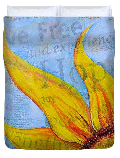 Live Free Duvet Cover by Lisa Fiedler Jaworski