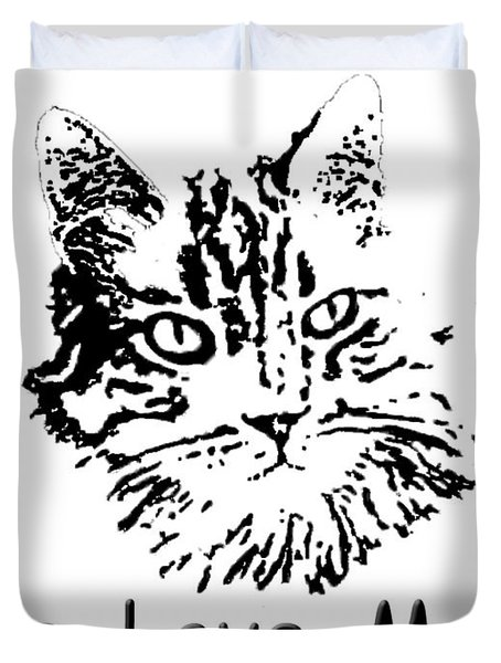 Live Love Meow Duvet Cover by Robyn Stacey