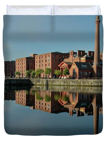 Duvet Cover featuring the photograph Liverpool Canning Docks by Jonah  Anderson