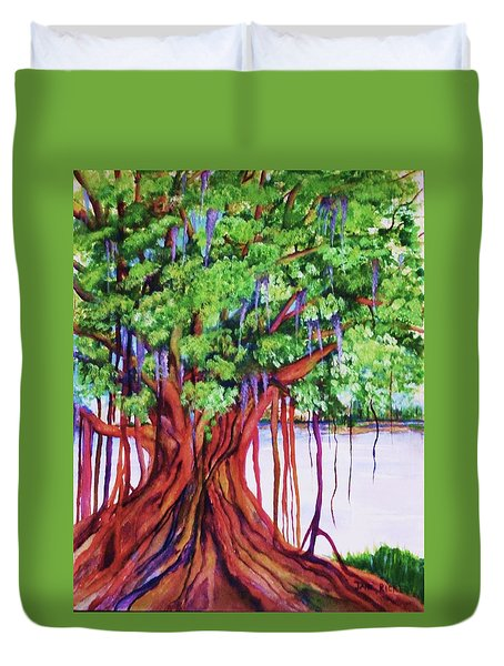 Living Banyan Tree Duvet Cover