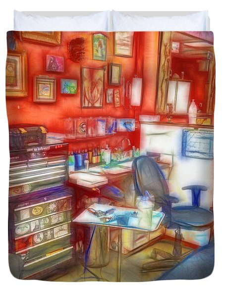 Living Canvas Duvet Cover by Cindy Nunn