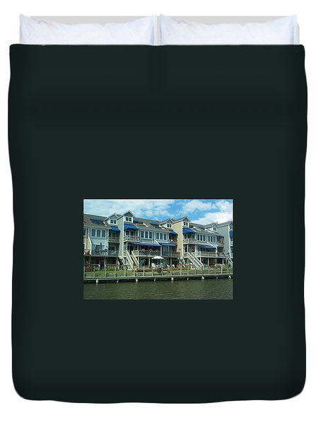 Duvet Cover featuring the photograph Living On The Dock Of The Bay by Emmy Marie Vickers